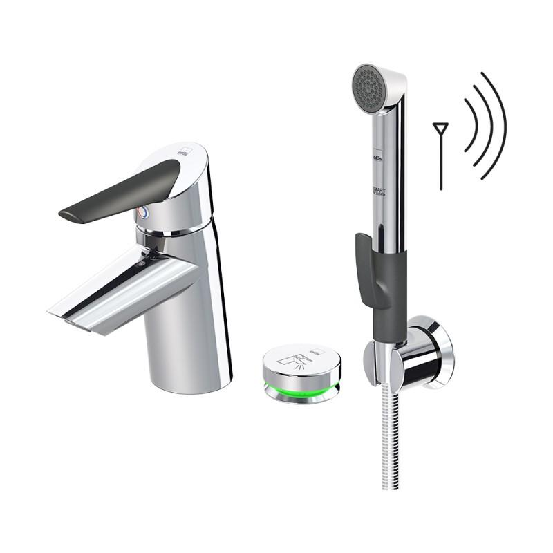 Oras Optima 2705F Смеситель для умывальника с термоcтатом, Smart Bidetta и Smart кнопкой