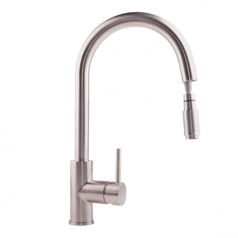 ULA (BW6001) 011 Смеситель для кухни U с выдвижным изливом