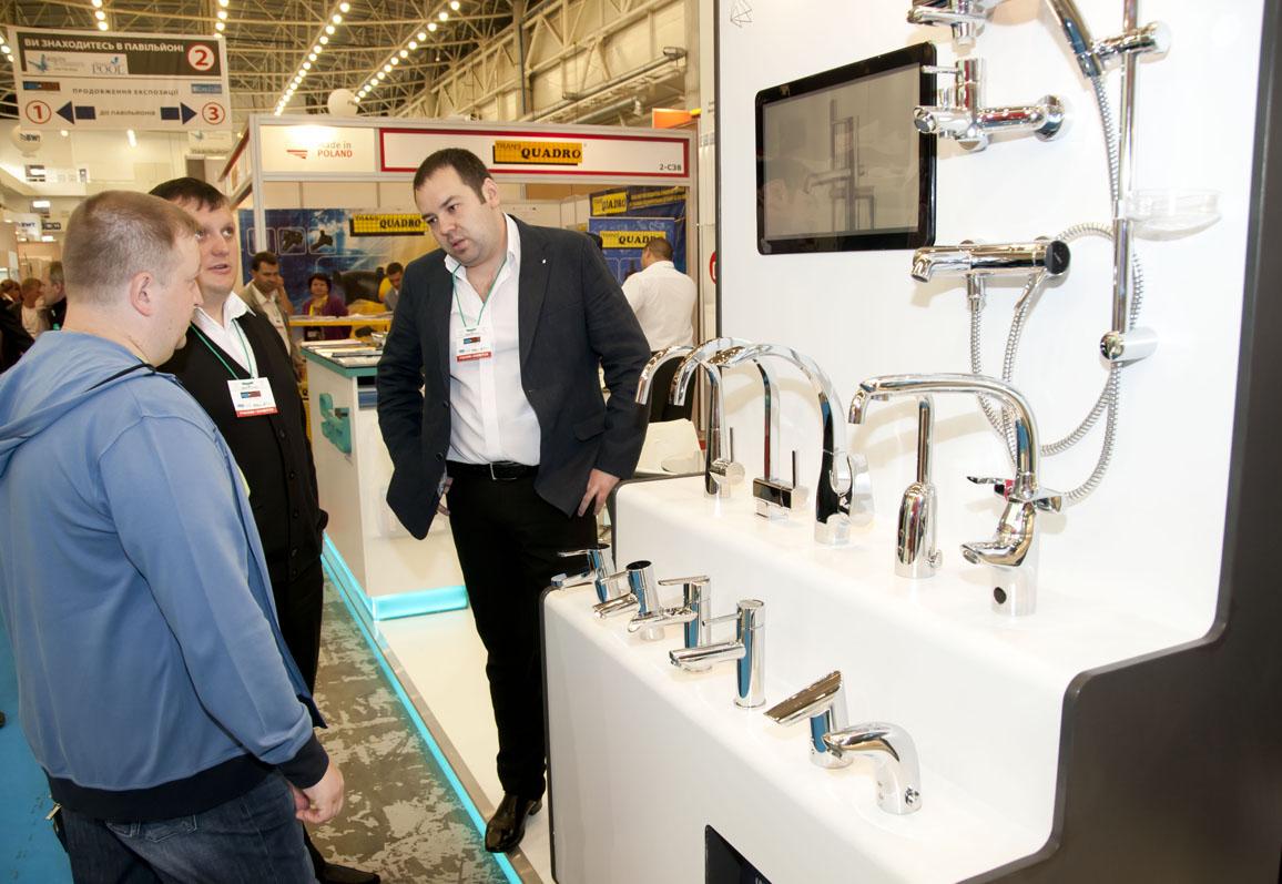 Cтенд торговой марки Touch-Z на выставке AquaTherm 2012